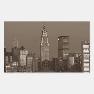 Sepia New York City Skyline