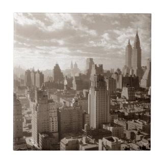 Sepia New York City Tiles