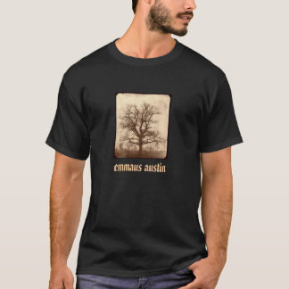 Sepia Oak Tree - Black T-Shirt