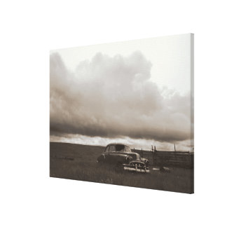 Sepia Old Car Canvas Print