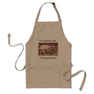 sepia pig apron