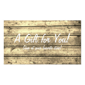 Sepia Planked Gift Card Business Card