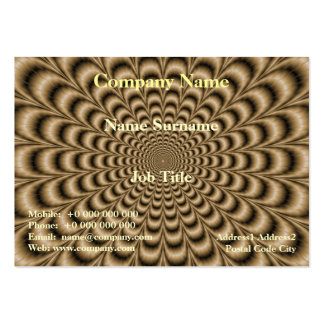 Sepia Pulse Large Business Card