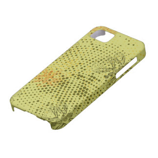 Sepia retro pattern with butterflies case for the iPhone 5