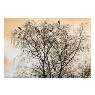 Sepia Roosting birds Placemat