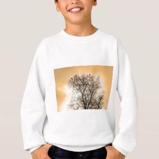 Sepia Roosting birds Sweatshirt