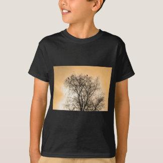 Sepia Roosting birds T-Shirt