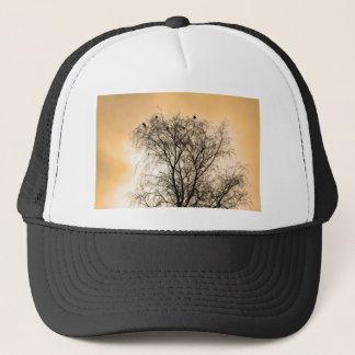 Sepia Roosting birds Trucker Hat