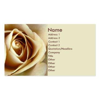Sepia Rose Business Card Template