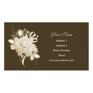 Sepia Rose Business Cards