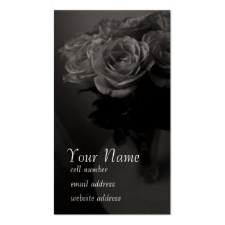 Sepia roses profile card business card templates