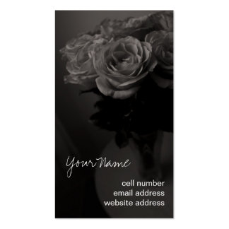 Sepia roses profile card pack of standard business cards