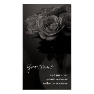Sepia roses profile card business card