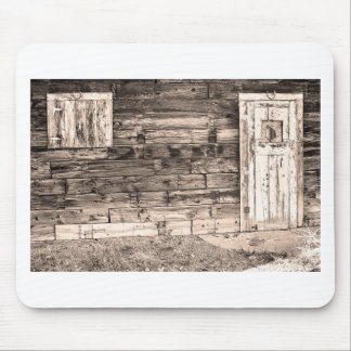 Sepia Rustic Old Colorado Barn Door and Window Mouse Pad