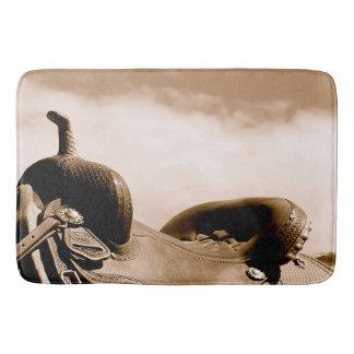 Sepia Saddle Ranching Bath Mat