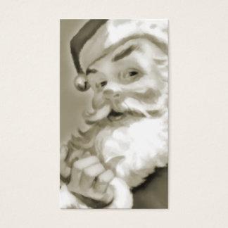 Sepia Santa Gift Tag Business Card