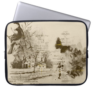 Sepia Scenic Collage Laptop Sleeve