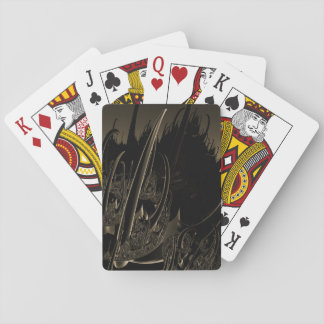 Sepia Sci Fi Fractal Playing Cards