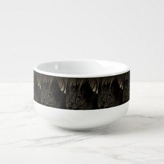 Sepia Sci Fi Fractal Soup Mug