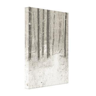 Sepia Snow Scene Canvas Print