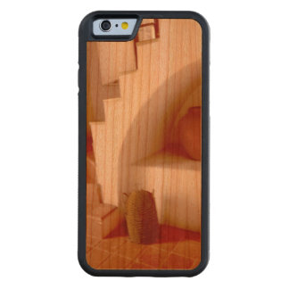 Sepia Southwest Steps Carved Cherry iPhone 6 Bumper Case