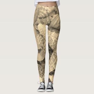 Sepia Starfish - Leggings