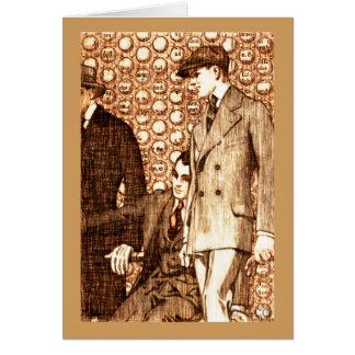 Sepia stylish men card
