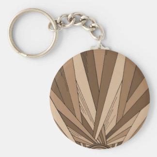 Sepia Sunrise Keychains