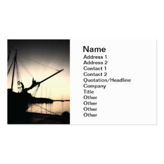 Sepia sunset business card templates