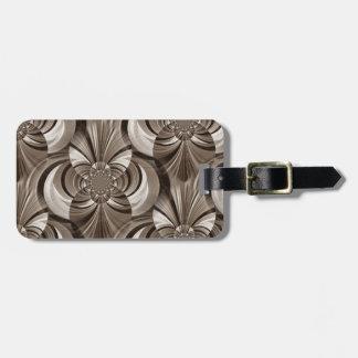 Sepia Swirl Luggage Tag