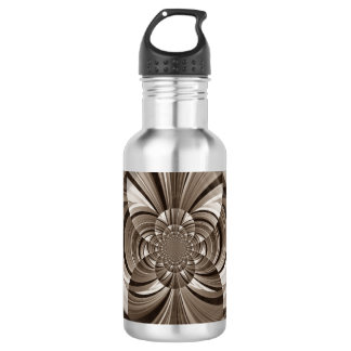 Sepia swirls water bottle