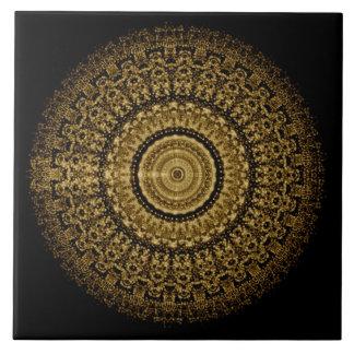 Sepia Tantric Mandala Tile 1