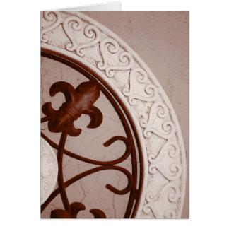 Sepia-tone Medallion card