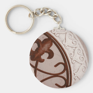 Sepia-tone Medallion keychain