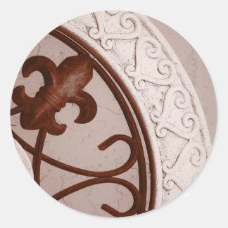 Sepia-tone Medallion sticker
