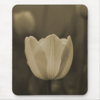 Sepia Tone Single Tulip Flower mousepad gift
