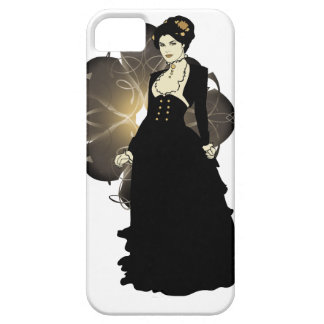 Sepia Tone Victorian Lady iPhone 5 Case