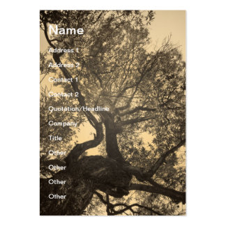Sepia tree business cards