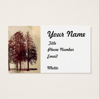 Sepia Trees Business Cards
