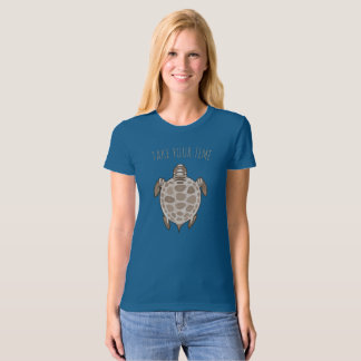 """Sepia turtle """"Take your time"""" T-Shirt"""