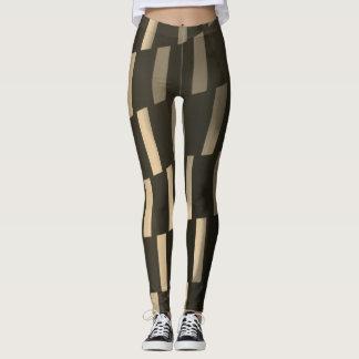 Sepia Vertical Geometric - Leggings