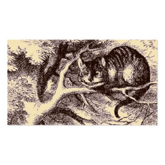 Sepia Vintage Cheshire Cat Alice in Wonderland Business Card