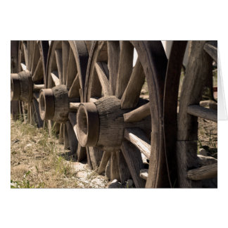 Sepia Wagon Wheels Card
