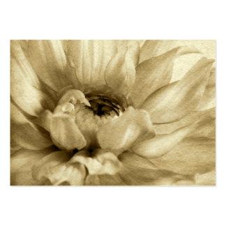 Sepia White Cream Dahlia Background Customized Business Card