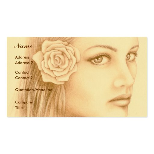 Sepia Woman Business Cards