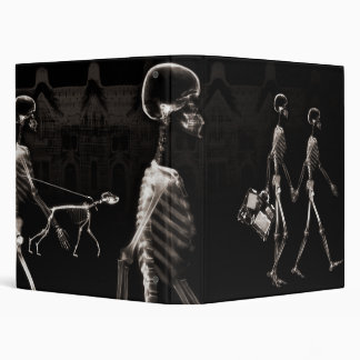 Sepia X-Ray Skeletons Midnight Stroll Binder