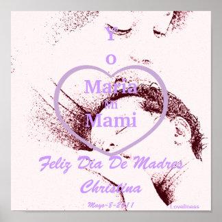 "Sepia ""Yo Amo a Mi Mami"" Spanish Poster-Cust."