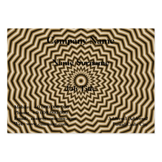 Sepia Zigzag Ripples Chubby Business Card