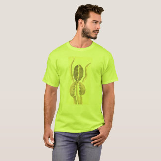 Sepie Tan Flower on Green with Plus Sizes up 6x T-Shirt