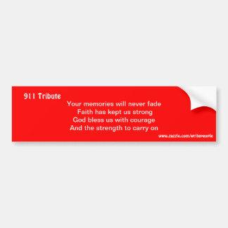 Sept 11 tribute bumper sticker